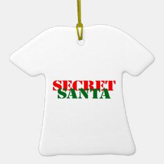 Secret Santa Ceramic T-Shirt Decoration