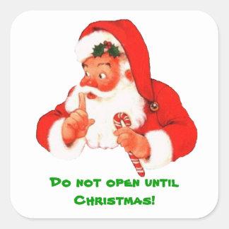 Secret Santa Christmas Sticker