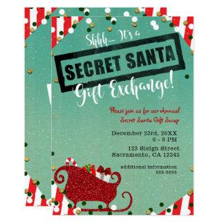 Secret Santa Invitations Announcements Zazzle Co Uk