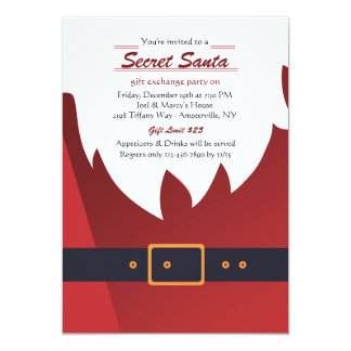 Secret Santa Holiday Party Invitation