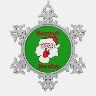 Secret Santa on Christmas Green Ornament