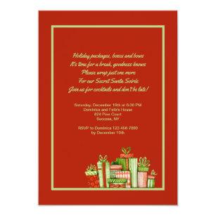 Dirty christmas cards invitations zazzle secret santa party invitation m4hsunfo