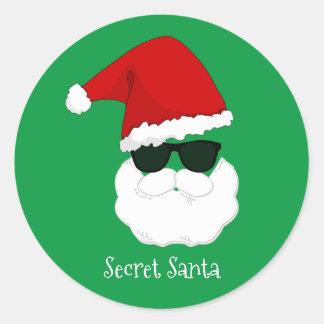 Secret Santa Round Sticker