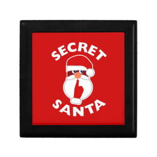 Secret Santa Small Square Gift Box