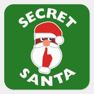 Secret Santa Square Sticker