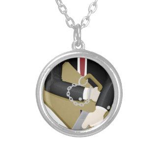 secret-service round pendant necklace
