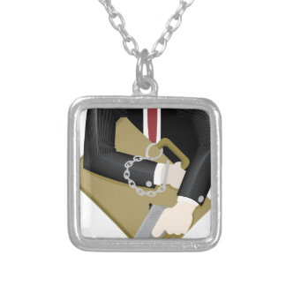 secret-service square pendant necklace
