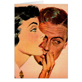 secret sharing or 'Doris, your slip is showing' Greeting Card