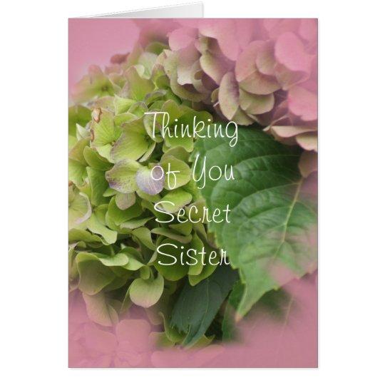 Secret Sister Hydrangea card2- customise Card