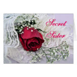 Secret Sister-Rose & Lace-any occasion Greeting Cards