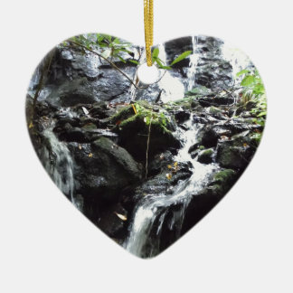 Secret Smoky Mountain Waterfall Christmas Tree Ornaments