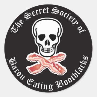 Secret Society of Bacon Eating Bootblack Sticker