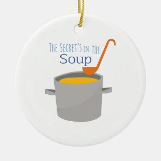 Secret Soup Round Ceramic Decoration