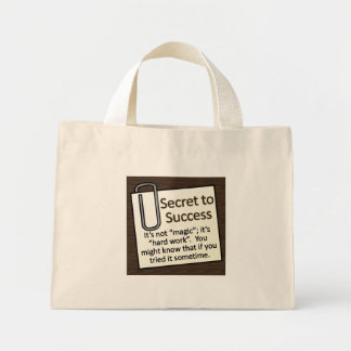Secret to Success Tote Bags