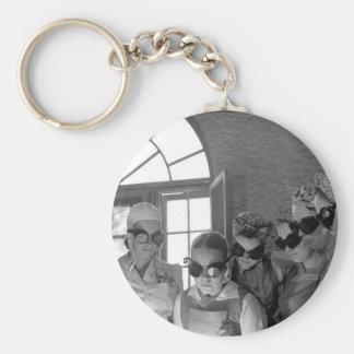 Secretaries, housewives, waitresses_War image Basic Round Button Key Ring