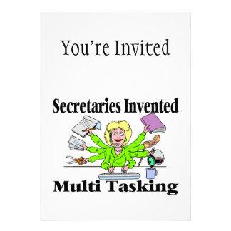 Secretaries Invented Multi Tasking Personalized Announcements