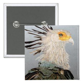 Secretary Bird 15 Cm Square Badge