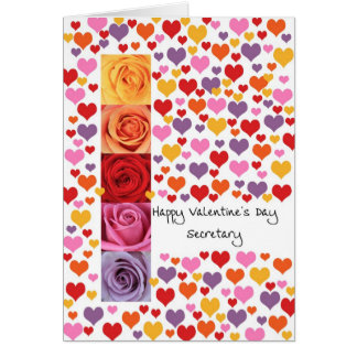 Secretary Colored Valentine's Day Card