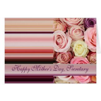 Secretary    Happy Mother's Day rose card
