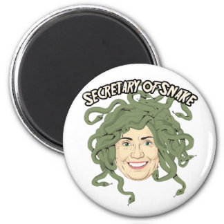 Secretary of State or Snake Hillary Clinton Button Magnets
