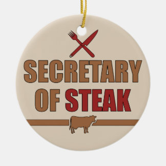 Secretary of Steak Christmas Ornament