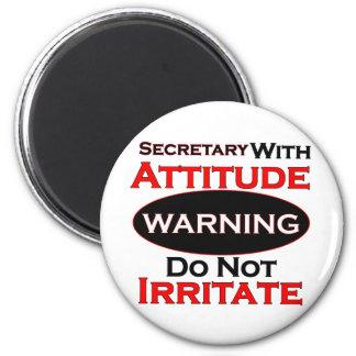 Secretary With Attitude 6 Cm Round Magnet