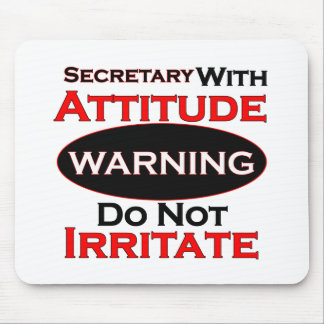 Secretary With Attitude Mouse Mat