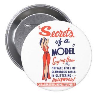 Secrets of a Model 7.5 Cm Round Badge