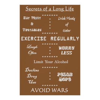 Secrets to a Long Life Poster