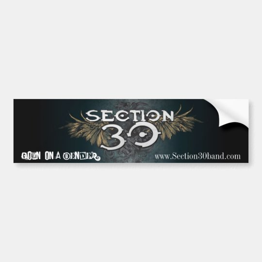 Section 30 Bumper Sticker