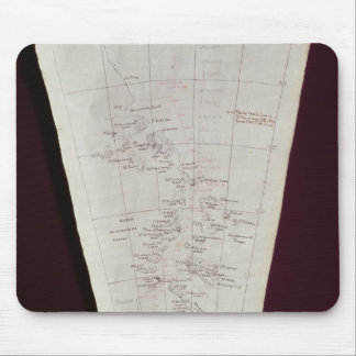 Section of Map from Ross Island to South Pole Mouse Mat