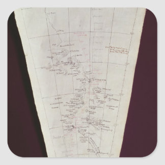 Section of Map from Ross Island to South Pole Square Sticker