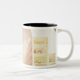 Section perspective Two-Tone coffee mug