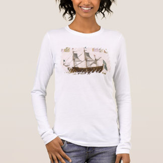 Section through a French first-rate ship of 104 ca Long Sleeve T-Shirt