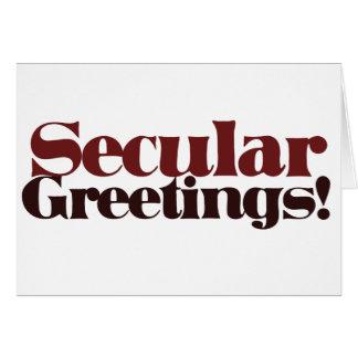 Secular Greetings Greeting Card