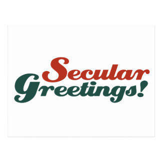 Secular Greetings Post Cards
