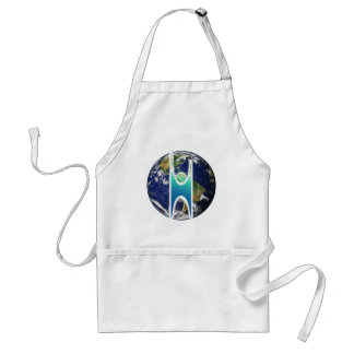 Secular H+ Earth Adult Apron