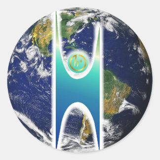 Secular H+ Earth Classic Round Sticker