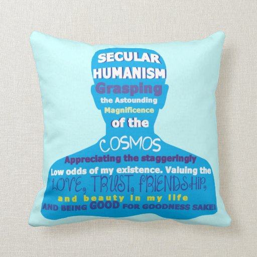 Secular Humanism Throw Pillows