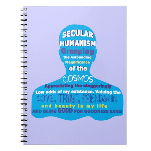 Secular Humanism Spiral Note Book