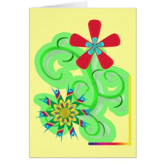 Secular Humanist & Atheist Symbol Flowers Card