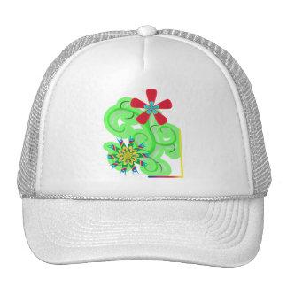 Secular Humanist & Atheist Symbol Flowers Hats