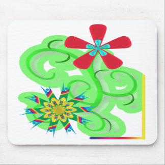 Secular Humanist Atheist Symbol Flowers Mouse Pads