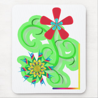Secular Humanist & Atheist Symbol Flowers Mouse Pad
