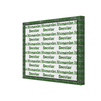 Secular Humanist Stretched Canvas Prints