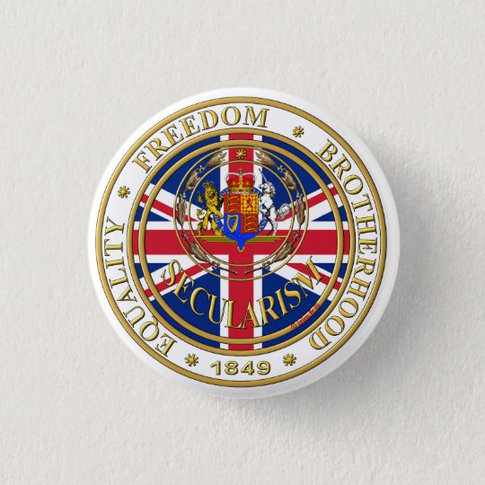 secularism united kandom 3 cm round badge