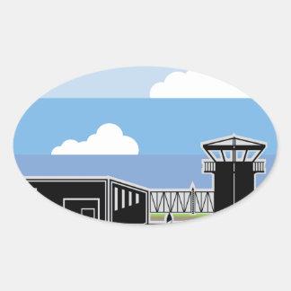 Secure Facility Prison Camp Oval Sticker