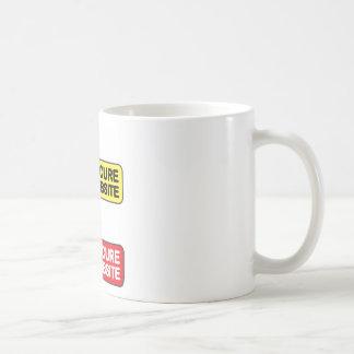 Secure Website Symbol Icon Coffee Mug