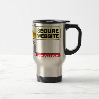 Secure Website Symbol Icon Stainless Steel Travel Mug