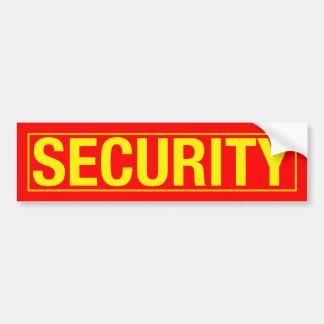 """""""SECURITY"""" BUMPER STICKER"""
